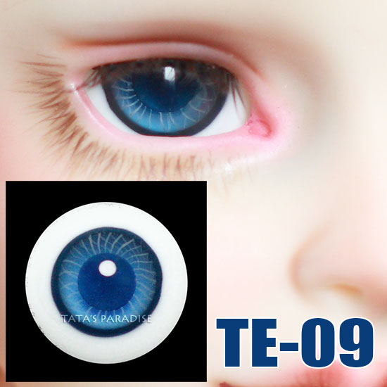 17mm 1 Pair of BLUE SLEEPING BLINKING OPEN CLOSE DOLL EYES WITH LASHES NEW