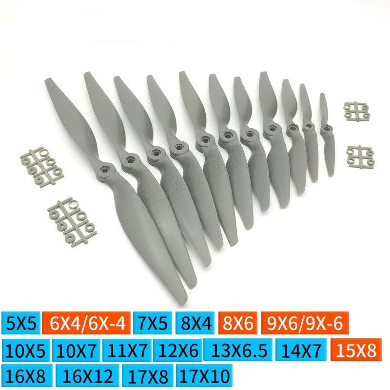 10pcs GEMFAN 5x5/6x4/7x5/8x6/9x6/10x5/10x7/11x5.5/11x7/12x6/13x6.5/14x7 APC hélice RC avião elétrico de fibra de vidro de Nylon