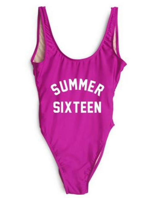 SUMMER SIXTEEN Floral Print Beyonce Bodysuit Swimsuit Beachwear Brazilian Jumpsuit Womens One Piece Bathing Suit