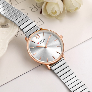 Image 2 - CURREN Luxury Women Watches Rose Gold Analogue Quartz Wrist Watch Female Clock Ladies Stainless Steel Watch relogios feminino