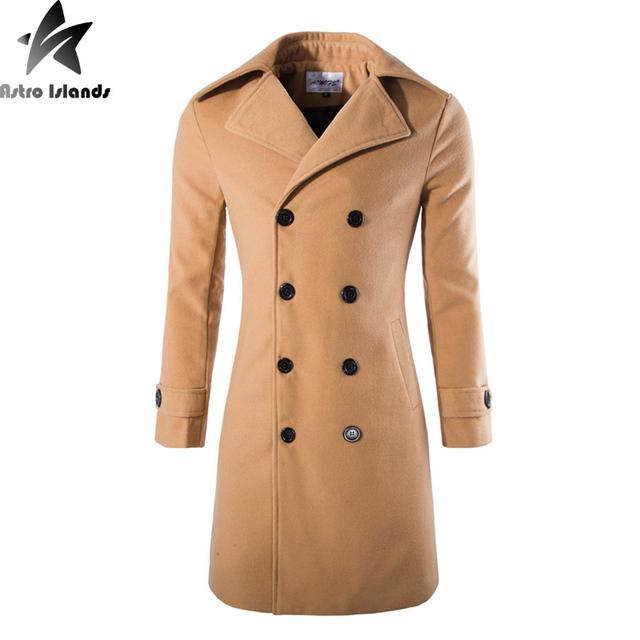 2016 inverno dos homens de pele casaco de lã de manga longa magro ocasional moda manter quente com veludo natural wasit line confortável mt229