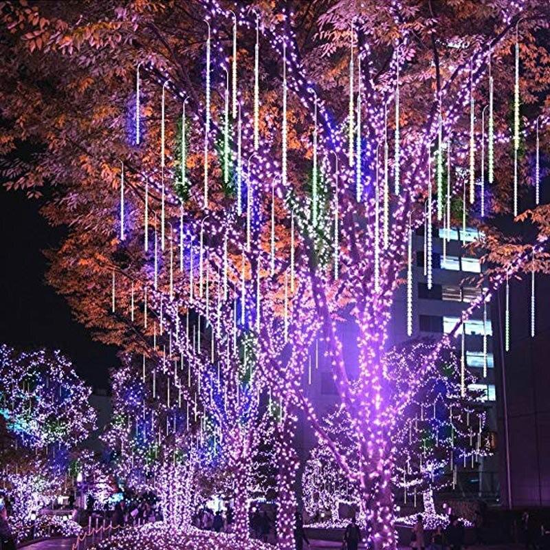 50 cm 10 Tubes 540 LED pluie de météores lumières goutte/glaçon neige chute de pluie imperméable cascade lumières pour noël de mariage