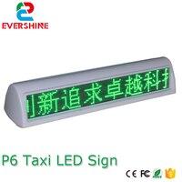 P6 открытый одного цвета двухсторонний такси верхний реклама такси привело знак, беспроводной такси верхний свет, LED дисплей