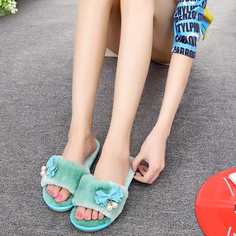 New Cute Girls Design Fashion Butterfly Knot Women Slippers