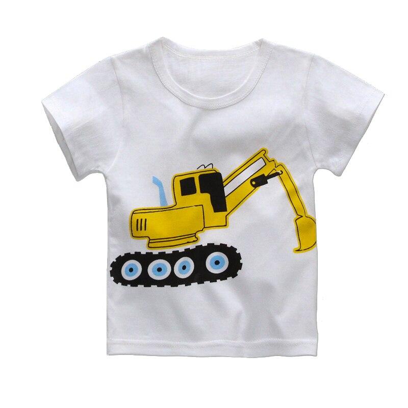 1-4 anos Camisa do Verão T para Meninos Das Meninas Do Bebê Camisetas 8 Estilo Da Menina do Menino Tops Bicicleta Carro Elefante veados Urso Dos Desenhos Animados