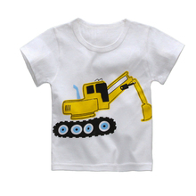 1-4 Years Summer T Shirt for Baby Girls Boys T-Shirts 8 Style Boy Girl Tops Bike Elephant Car Deer Bear Cartoon