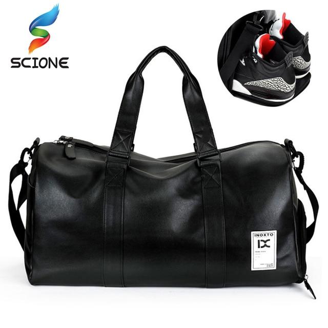aa8f87bddda1 New Top PU Men Sports Gym Bag Women Travel Handbag Fitness Waterproof  Outdoor Rucksack Fitness Training