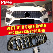 W177 GTS Style Grille With Camera Fits For W177 A180 A200 A250 A45 ABS Silver New Look Without Sign Front Grille Mesh 2015-in