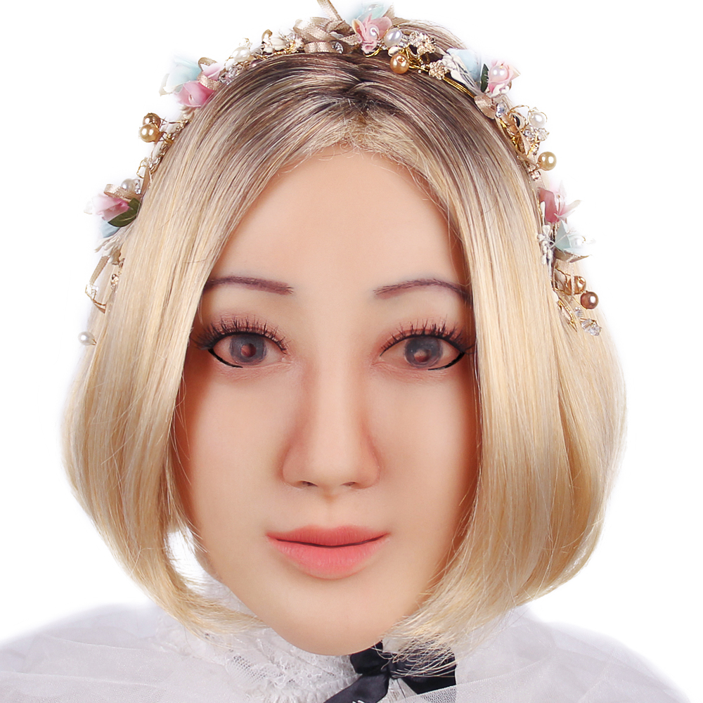 KOOMIHO Angela Soft Silicone Transgender Mask Crossdress Cosplay Mask Realistic Silicone Head Mask Handmade Makeup Mask 1G  - buy with discount