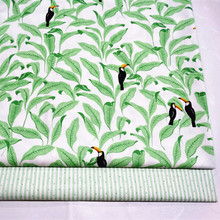 2018 New Prints Bird on the leaf Cotton Twill Fabric Baby Quilting by meter for DIY Sewing Patchwork fabric sheet