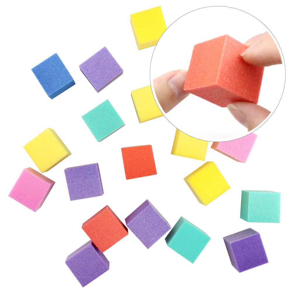 ZINXIN 10/20Pcs Neon Mini Small Cube Nails Files Block Professional Nail Art DIY Tools Sanding Buffer Sponge Colorful Washable