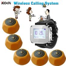Bezprzewodowy system nagłośnienia kelner wywołanie do szpitala restauracja bezprzewodowy zegarek otrzymać telefon zwrotny od usługi otrzymać telefon zwrotny od klienta tanie tanio Ycall K-300plus+K-M-Yellow Wireless sound system 433 92mhz rechargeable 500PCS button in max in one time when stand-by sound promt and vibration or both