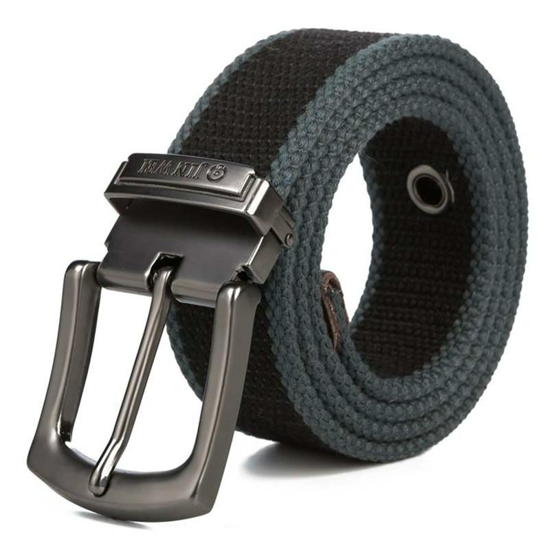 Hommes Toile ceinture 2018 hommes d'entraînement taille ceinture Jeans Occasionnels Ceinture étudiant aiguille Boucle-Ceinture Mâle Allongé Tactique Marque cintos