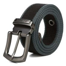Men Canvas belt 2018 mens workout waist belt Casual Jeans Belt student needle Buckle-Belt Male Lengthened Tactical Brand Cintos