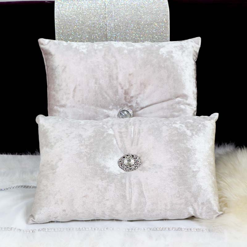Velvet Solid Color Hotel Luxury High Grade Pillow Cover Home Decorate Pillow Case Office Sofa Cushion Cover Crystal