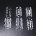 6 piece a Package Male Clear Silicone Lock Sperm Durable Penis Sleeve Cock Ring  Adult Sex Product Toys