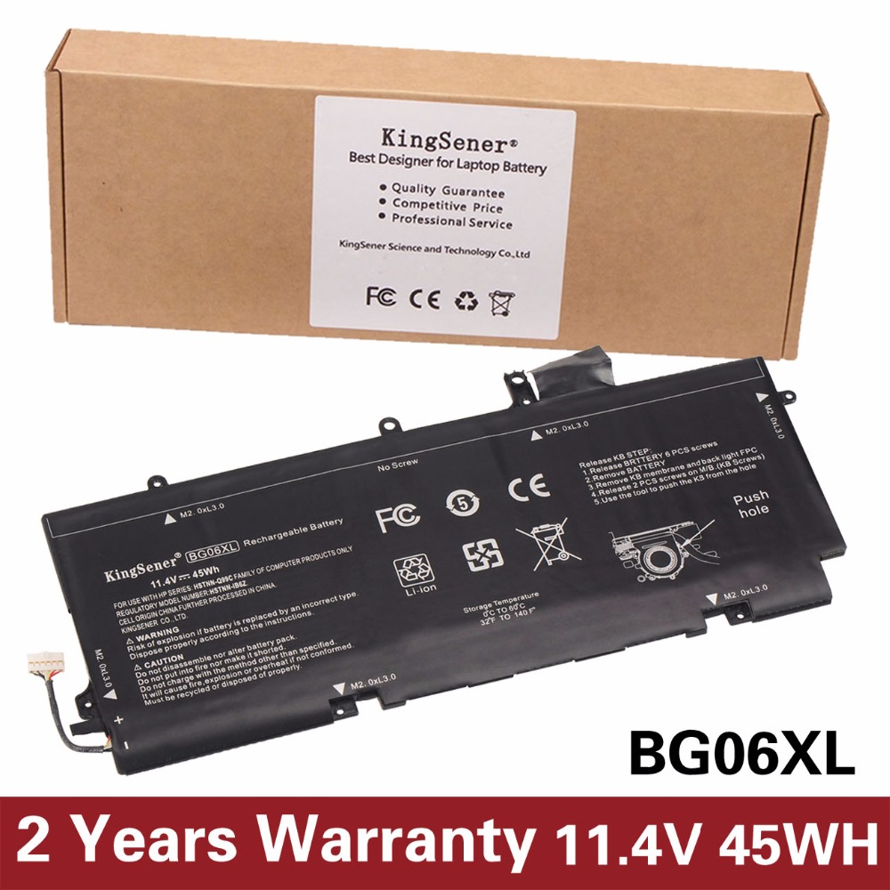 цены KingSener New BG06XL Battery for HP EliteBook 1040 G3 (P4P90PT) BG06XL HSTNN-Q99C HSTNN-IB6Z 804175-1B1 Free 2 Years Warranty