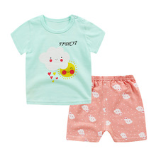 hot deal buy boys clothing sets summer style children's clothing sets 2018 short-sleeve cartoon t-shirt+ pants baby kids sets 100% cotton