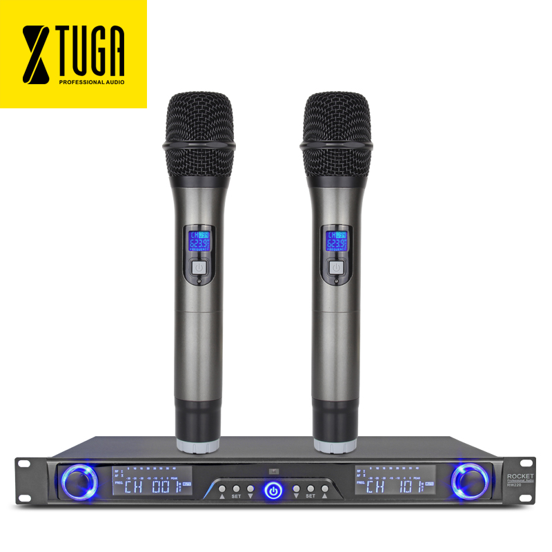 xtuga rw220 uhf wireless microphones system digital diversity receiver for stage bar show 2. Black Bedroom Furniture Sets. Home Design Ideas