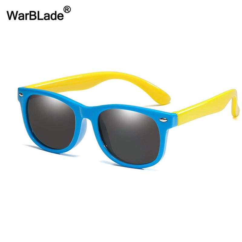 WarBlade New Kids occhiali da sole polarizzati TR90 ragazzi ragazze occhiali da sole occhiali di sicurezza in Silicone regalo per bambini Baby UV400 Eyewear 2