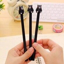 1pcs/lot Cartoon Animal black Bear Gel Pen Black Pen 0.5mm Student Gel Pen For School Writing Office School Supplies недорого