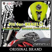KODASKIN 3D Printing Gas Traction Tank Pad Protection Sticker Decal Black and White Fit for BENELLI BJ300/600 BN600/300/302S