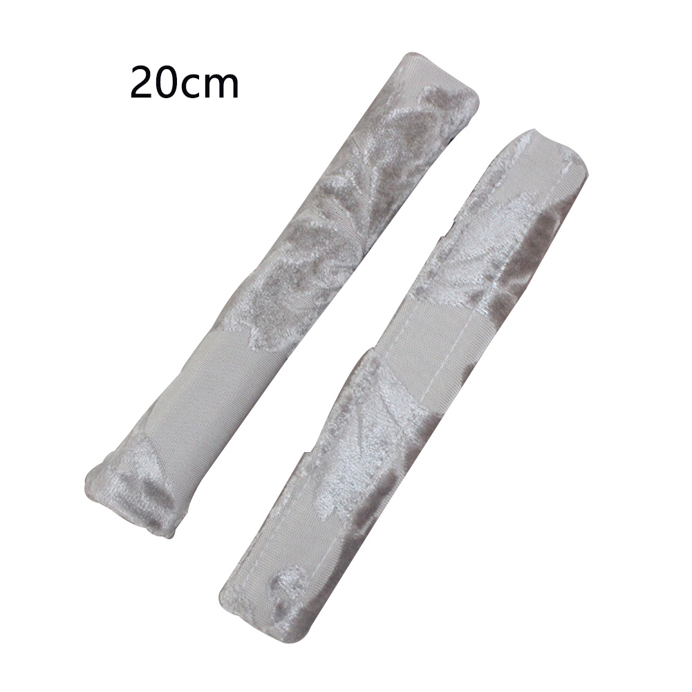 2PCS Soft Washable Keep Clean Refrigerator Adhesive Decoration Cotton Blend Door Handle Covers Printed Home Protector