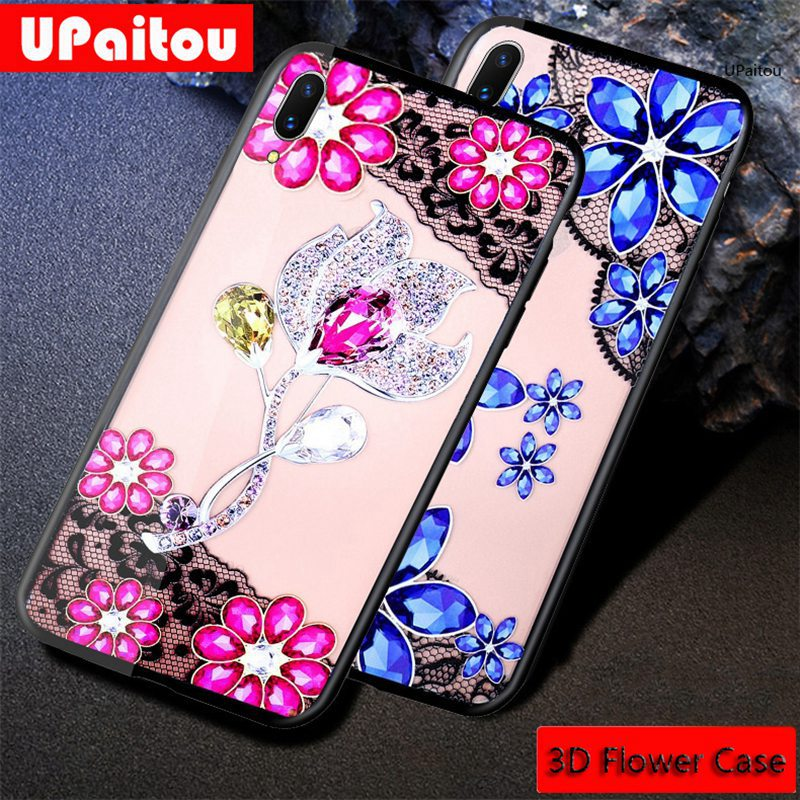 UPaitou <font><b>3D</b></font> Relief Lace Flower Phone <font><b>Case</b></font> For <font><b>vivo</b></font> Y51 Y66 Y67 Y53 (2017) <font><b>Y69</b></font> Y71 Y71i Y81 Y83 Cover for <font><b>VIVO</b></font> Y83 Y81 Y71i <font><b>Case</b></font> image