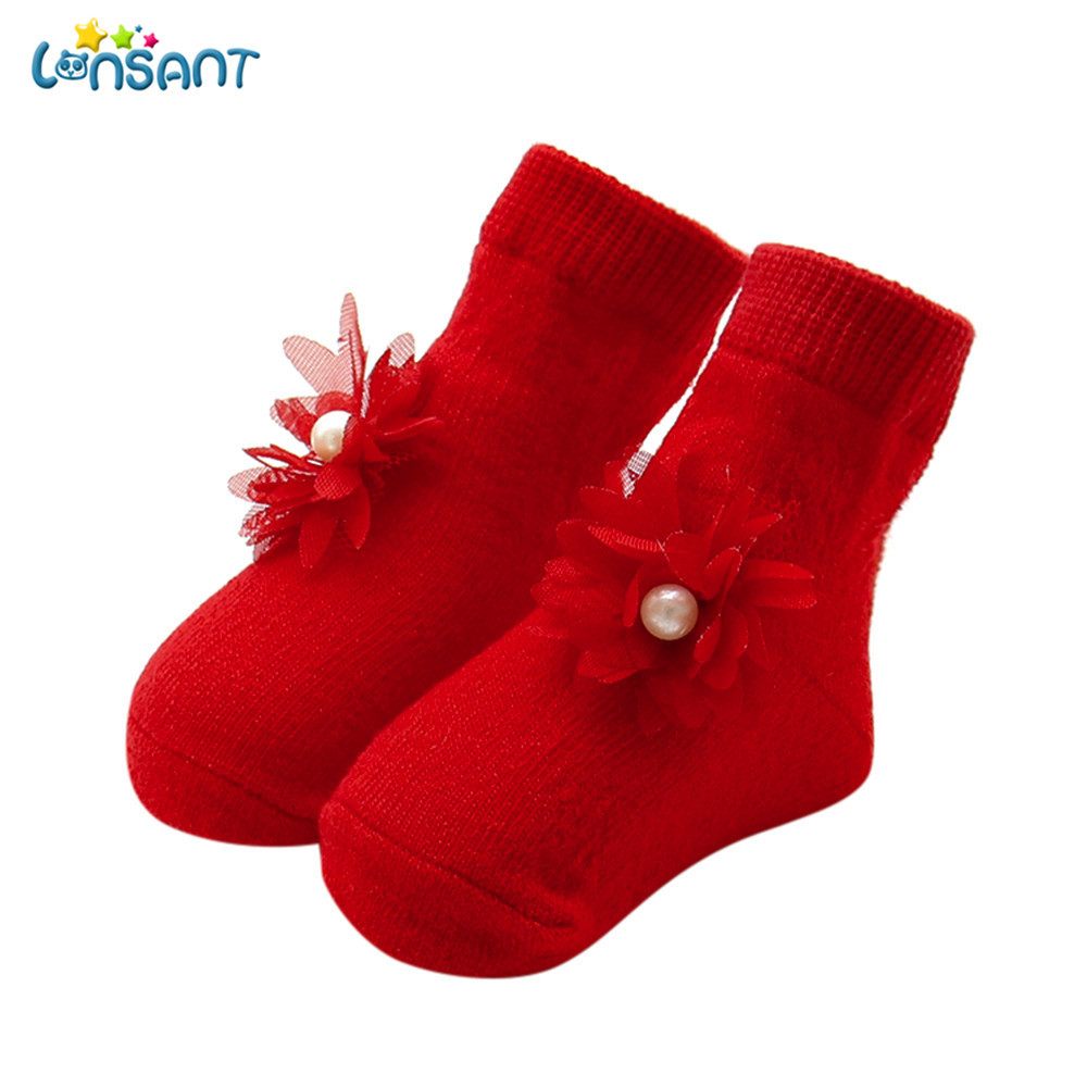 LONSANT New Hot Baby Girls Boys Cartoon Newborn Baby Kids Girls Comfortable Floral Cute Cotton Sock Slippers Warm Ankle Socks