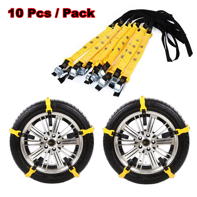 2018 TPU Auto Tire Snow Chains Anti-Skip Belt Safe Driving For Snow Ice Sand Muddy Offroad For Most Car SUV VAN Wheel