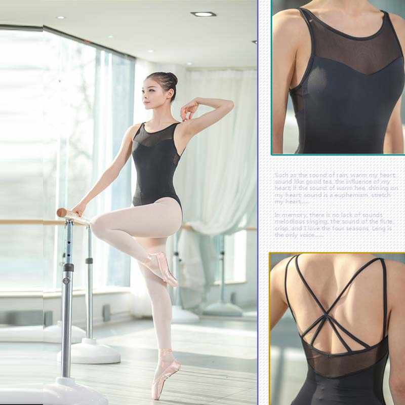 Ballet dancewear Ballet Leotards For Women Pure Cotton Black Ballet Dancewear Adult Dance Practice Clothes Gymnastics Leotards