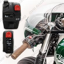 """Противотуманные фары+ аварийный свет мотоцикла переключатель питания 12 В Универсальный для мотоцикла, велосипеда, вездехода грязи 7/"""" ручка переключатель"""