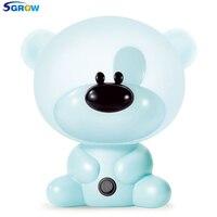 SGROW Lovely Panda Rabbit Dog Pig Cartoon Night Lights for Children Baby's Bedroom Protect Eyes Lamp Indoor Lighting Fixtures