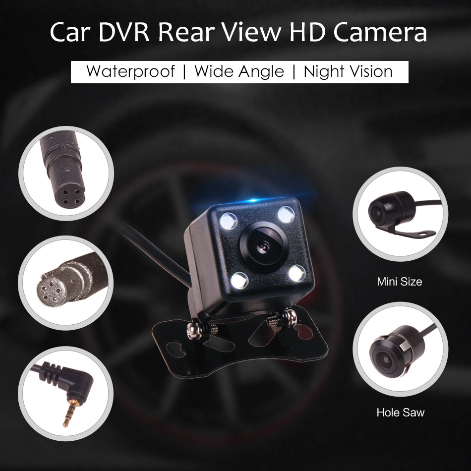 4Pin 5Pin 2.5 AV In Rear View Backup Reverse Parking Waterproof Wide Angle HD Camera for Car DVR Camcorder Android Mirror GPS