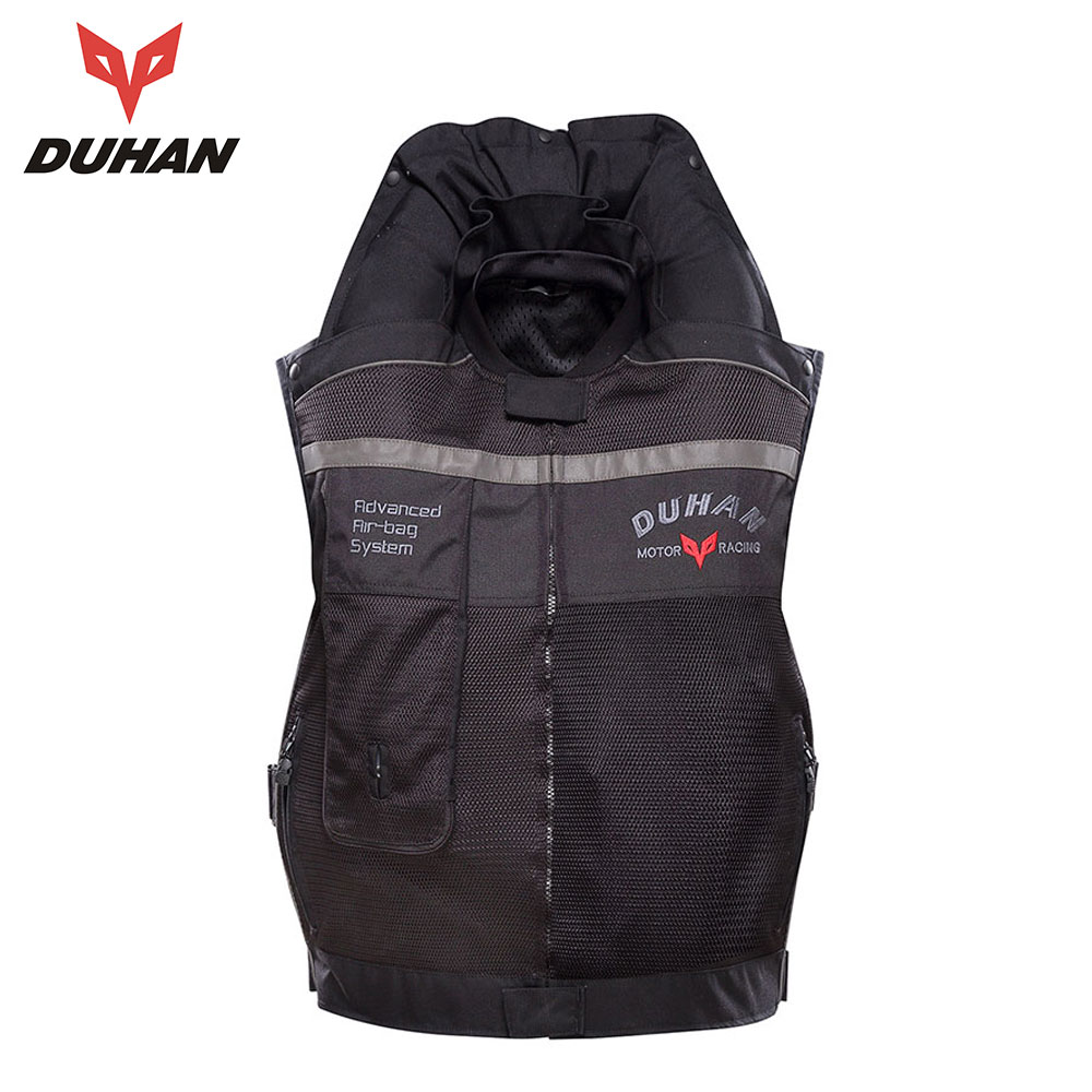 Spirited Duhan Motorcycle Air-bag Vest Cylinder Motorcycle Vest Reflective Professional Advanced Air Bag System Motocross Protective Choice Materials