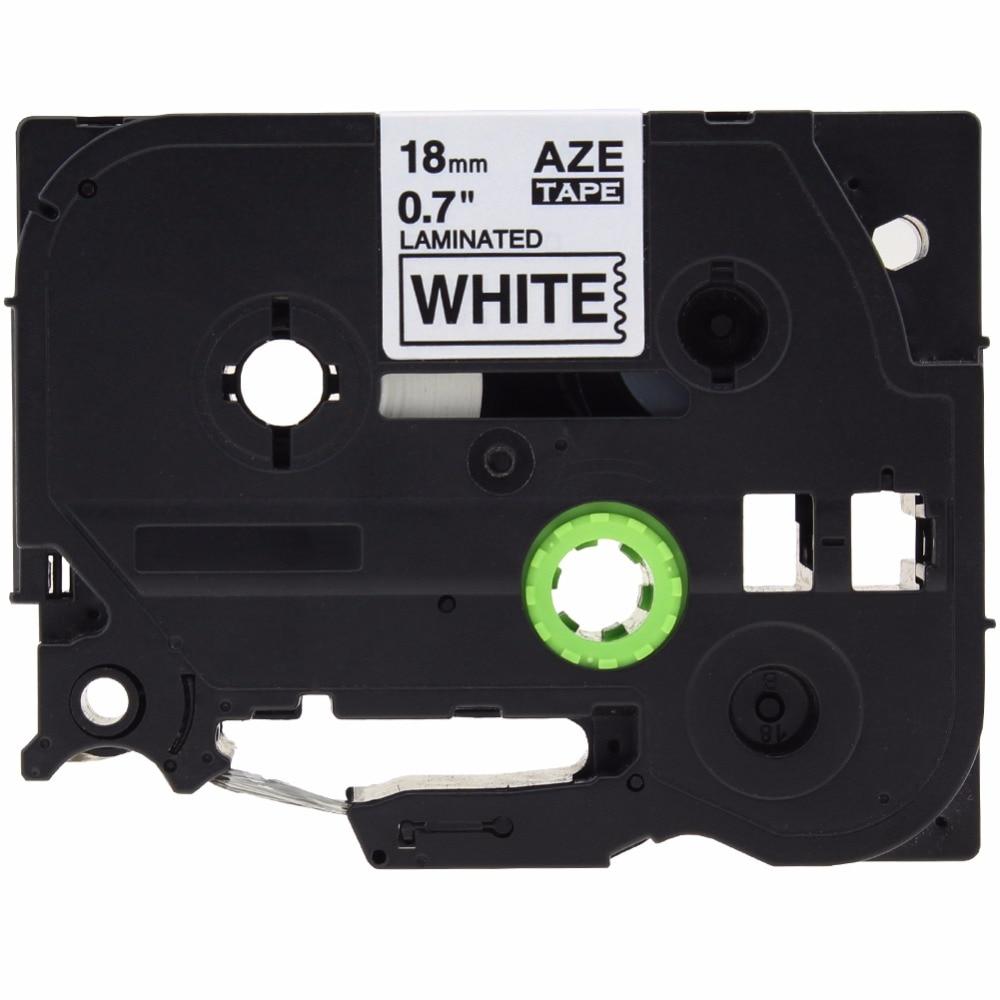 10 PCS 18mm black on white laminated label cartridge tze241 tze 241 tze 241 Compatible for