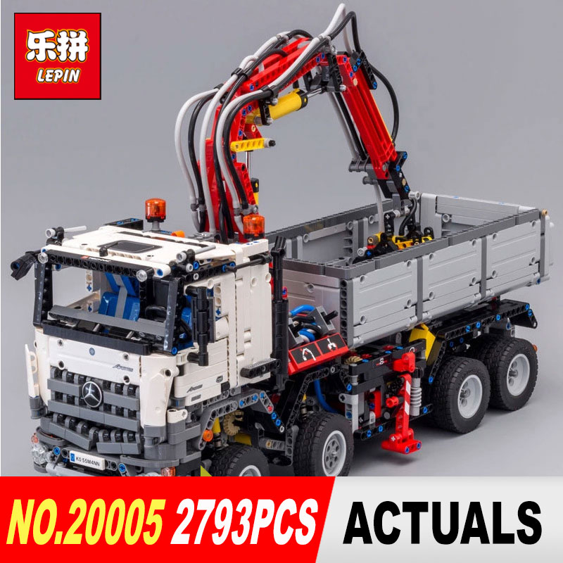 LEPIN 20005 2793Pcs Technic series Arocs truck Model Building blocks Bricks Classic Compatible 42043 for Children Christmas Gift lepin technic series building bricks 20005 2793pcs arocs truck model building kits blocks compatible 42043 boys toys gift