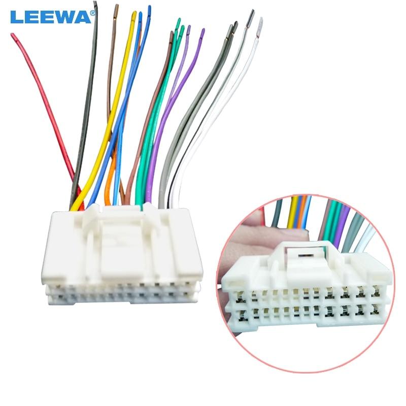 LEEWA Car Audio Stereo Wiring Harness Adapter Plug For Hyundai/KIA(05~08)Factory on