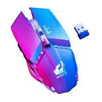 Мышь Ратон 2,4 светодио дный ГГц беспроводной led Mute перезаряжаемые USB игровой компьютер мыши Компьютерные для ноутбука сем inalambrico 18Nov26