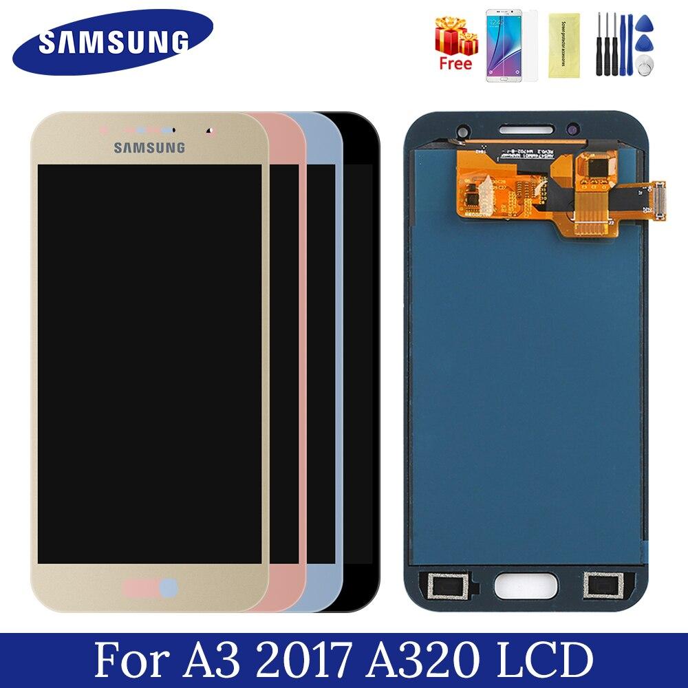 Samsung a320 affichage a3 2017 lcd 4.7 pouces écran tactile TFT numériseur assemblée remplacement pour samsung galaxy a3 2017 a320F