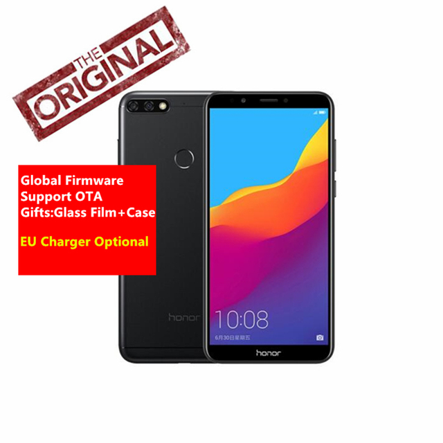 """Global Firmware Huawei Honor 7C Telefoon Gezicht ID 5.99 """"Full View Scherm Android 8.0 Qualcomm 450 1.8 GHz * 8 13MP Dual Camera Telefoon"""