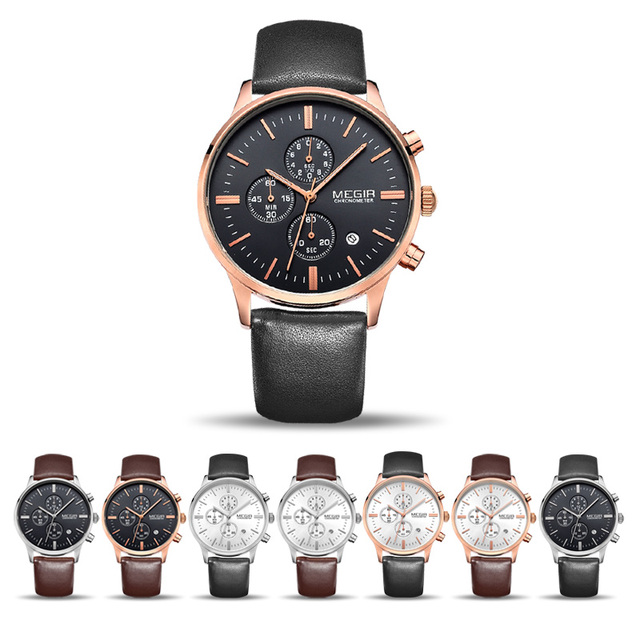 MEGIR Original Watch Men Top Brand Luxury Men Watch Leather Clock Men Watches Relogio Masculino Horloges Mannen Erkek Saat