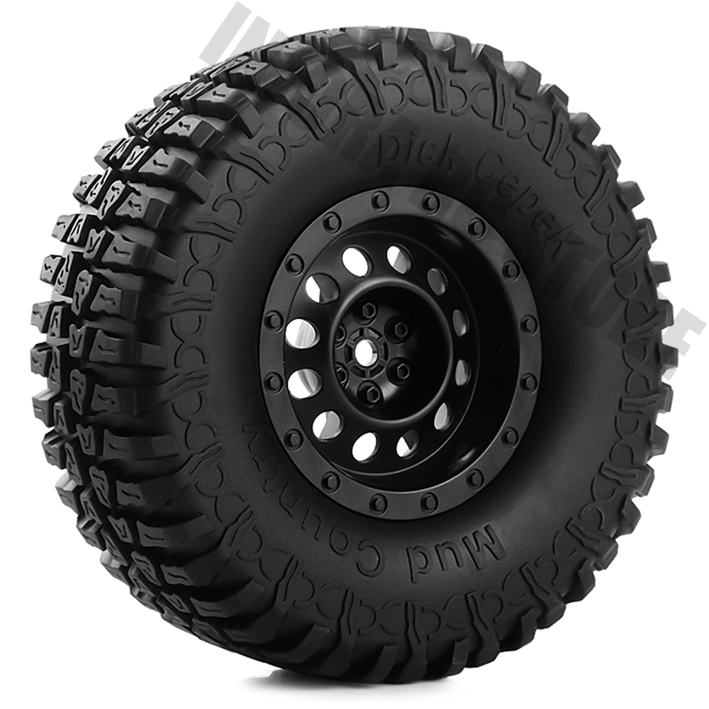 1.9 Inch 4Pcs/Set Rubber Tires&Plastic Wheel Rim For 1:10 RC Rock Crawler Axial SCX10 90046 Tamiya CC01 D90 4 Color Available