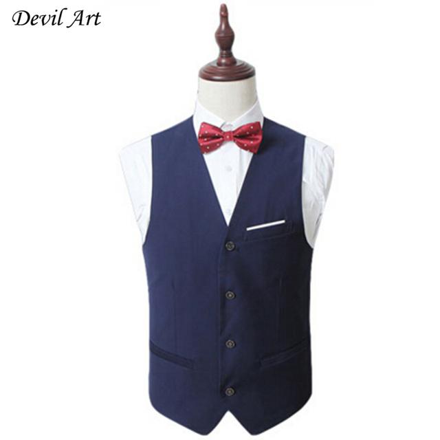 Homens Colete Formal de Roupas de Marca de Negócios de Moda Colete Fino Terno Do Casamento Colete Coletes Azul Frete Grátis 522