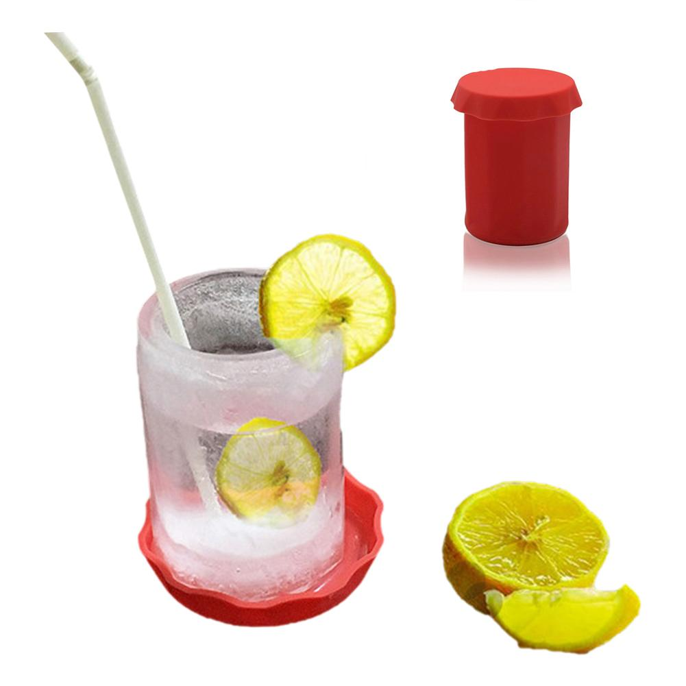 Cylinder Summer Beer Mug Ice Cube Frozen Silicone Freeze Mold Maker Tray Mug Mould Party Cocktail Cola Suitable For Bar Beach image
