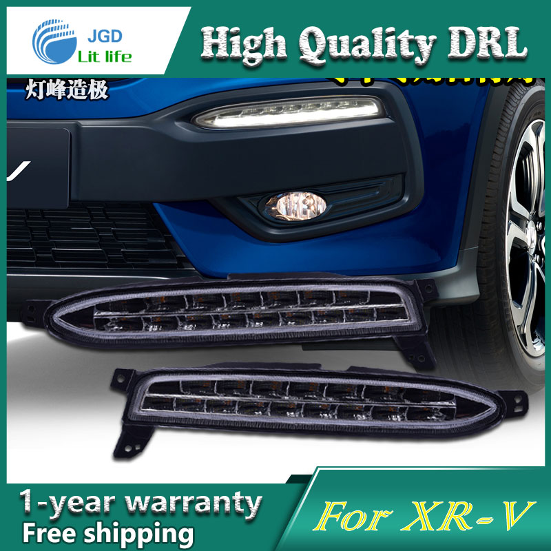 high quality daytime Running Light Fog light High Quality LED DRL case for Honda XRV XR-V fog lamp 12V 6000K 2pcs/set молдинги honda xrv