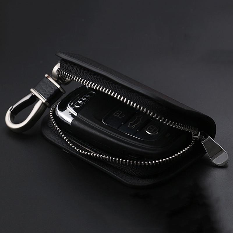 Alu Smart Schlüsselanhänger Sitzbezüge Auto Schlüssel Kette Tasche