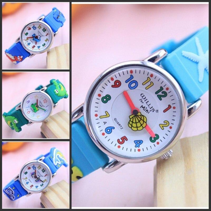 New Arrival Fashion Quartz Ocean World Dolphin Kids Cartoon WristWatch Clock Student Watches Horlog Relogio Feminino Montres