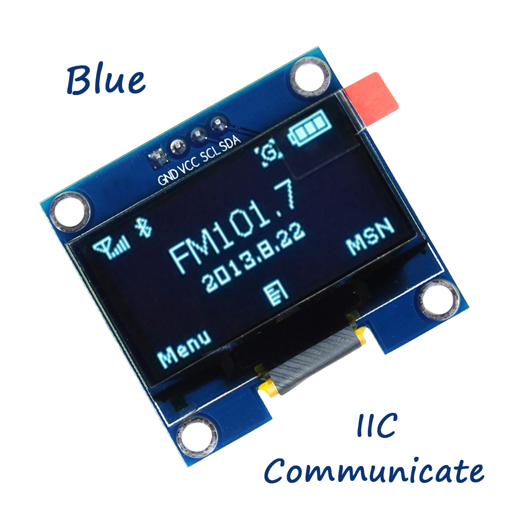 1.3 OLED display module blue color 128X64 1.3 inch OLED LCD LED Display Module 1.3 IIC I2C Communicate compatible arduino