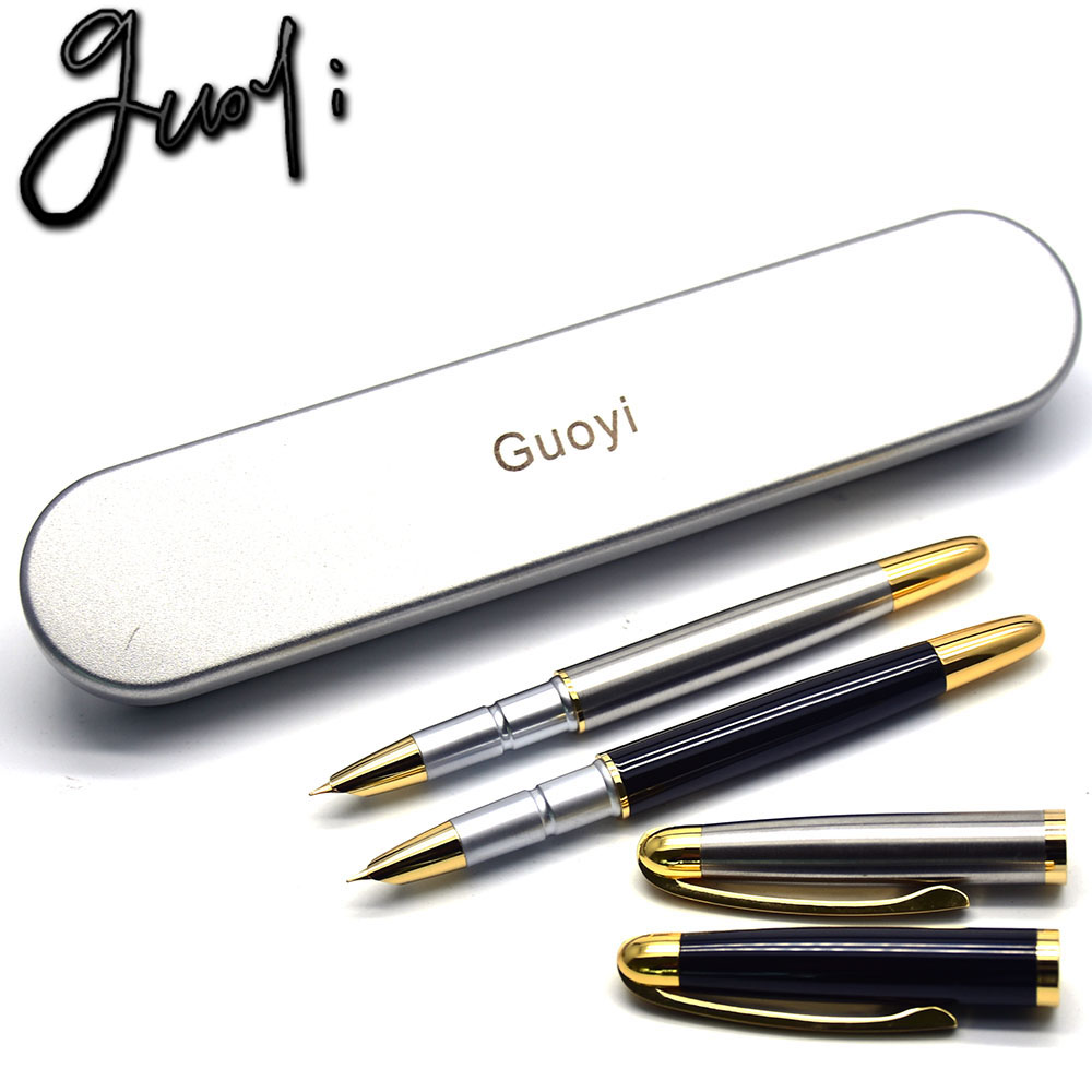 Guoyi D02 Ink pen stationery School Gift DIY Office 0.38 pen nib or Golden fountain pen stationery Accounting gift pen